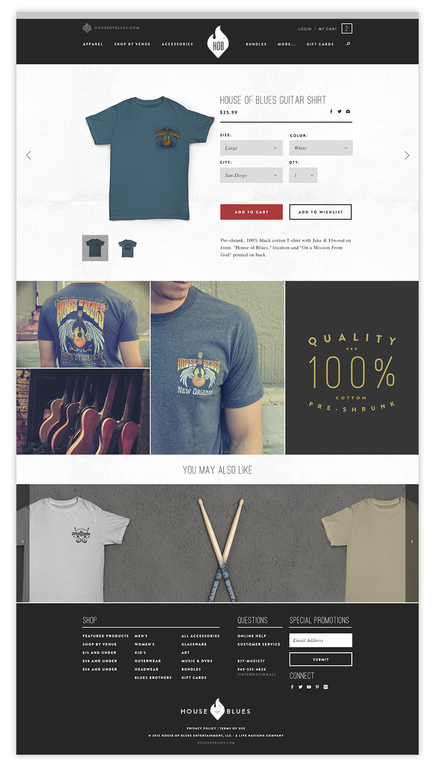 HOB merch site