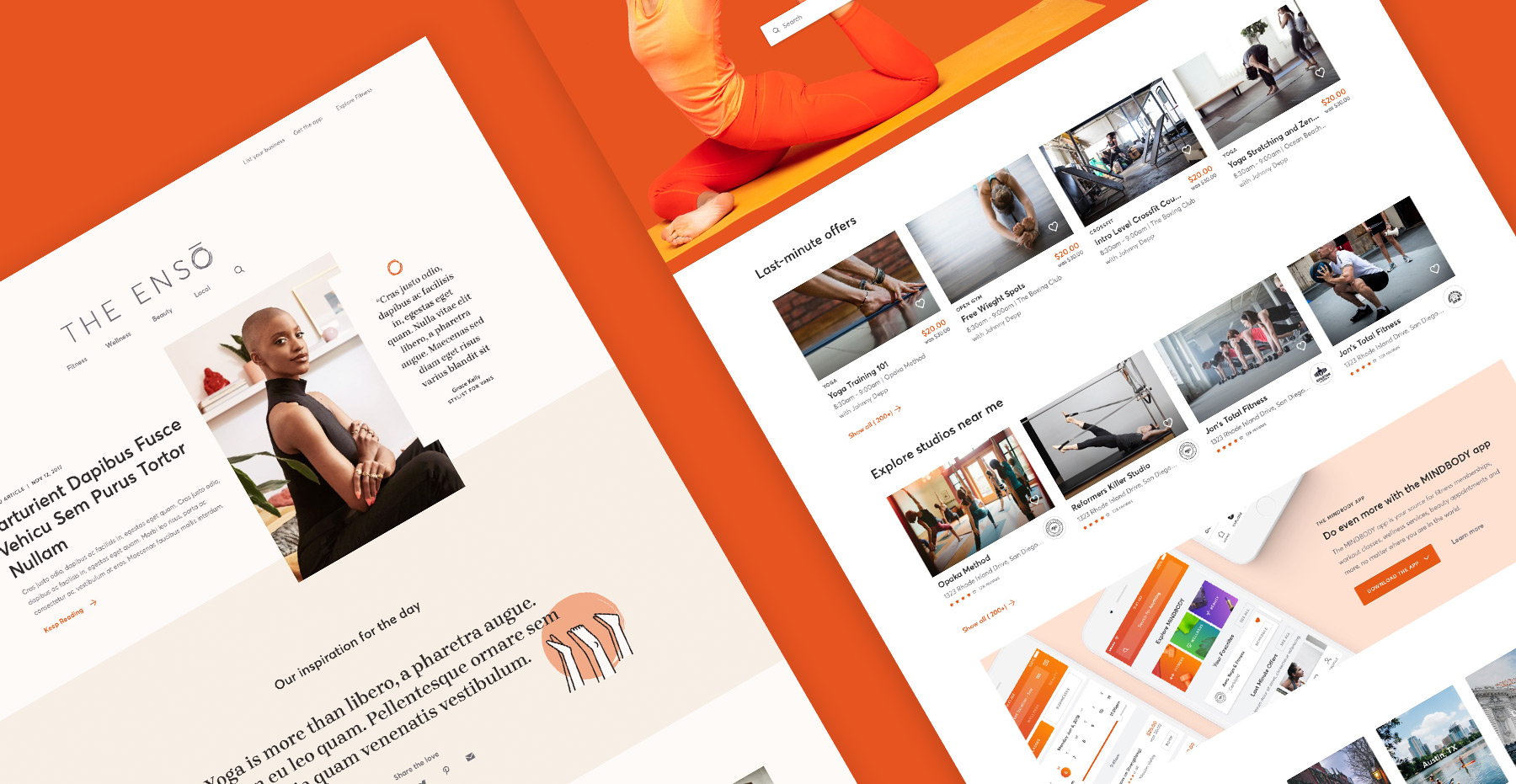 MINDBODY web designs